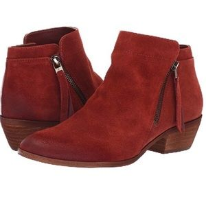 Sam Edelman Packer Paprika Suede Ankle Booties 9M